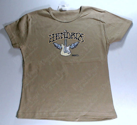 Hendrix, Jimi - Brown Guitar Girls Youth Shirt