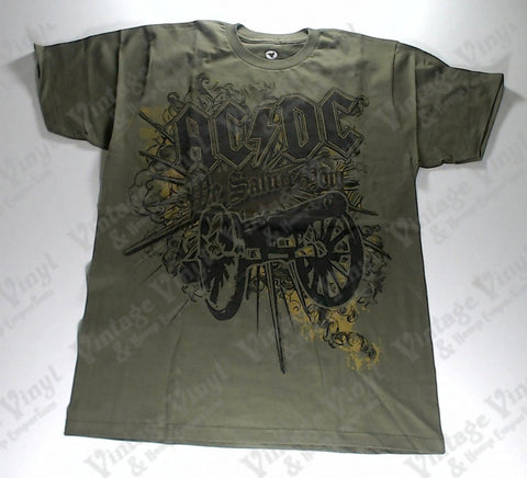 AC/DC - Green and Brown Salute Liquid Blue Shirt