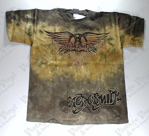 Aerosmith - Brown and Gold Liquid Blue Shirt