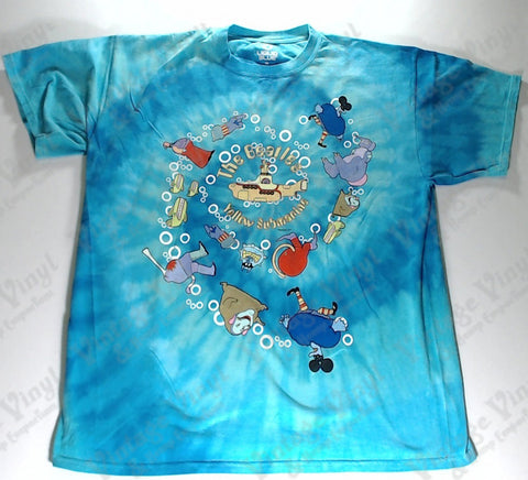 Beatles, The - Yellow Submarine Spiral Liquid Blue Shirt