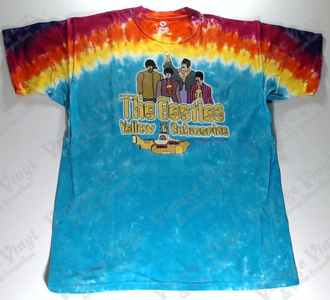 Beatles, The - Yellow Submarine Band Sunrise Liquid Blue Shirt