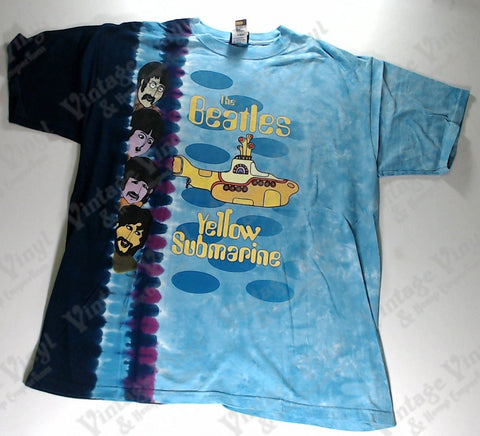 Beatles, The - Band Strip Yellow Sub Liquid Blue Shirt