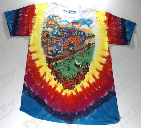 Grateful Dead - Bus Front and Back Liquid Blue Shirt