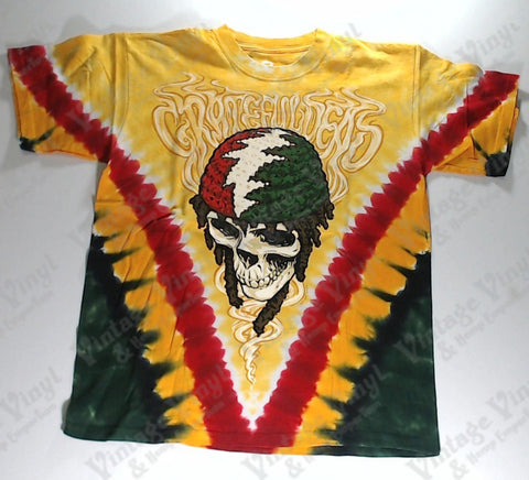 Grateful Dead - Rasta Skull Liquid Blue Shirt
