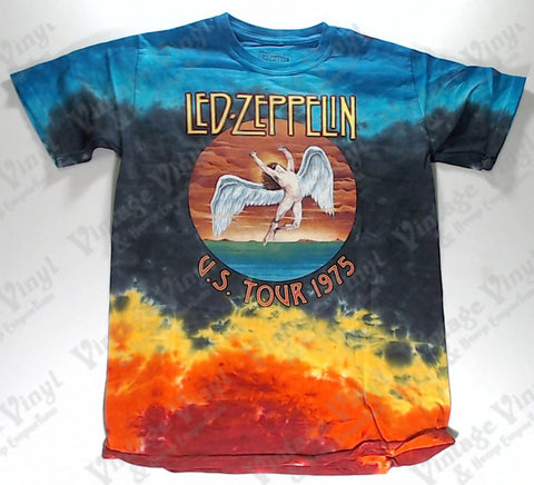 Led Zeppelin - U.S. Tour 1975 Angel Liquid Blue Shirt