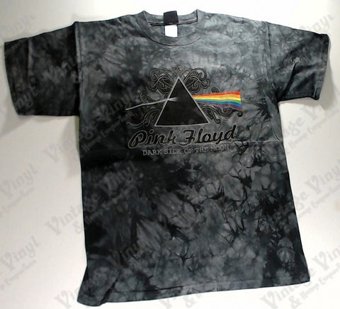 Pink Floyd - Dark Side Fancy Text Grey And Black Liquid Blue Shirt