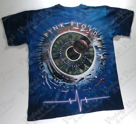 Pink Floyd - Planet Over Eyeball Fish, Birds And Land Circle Liquid Blue Shirt
