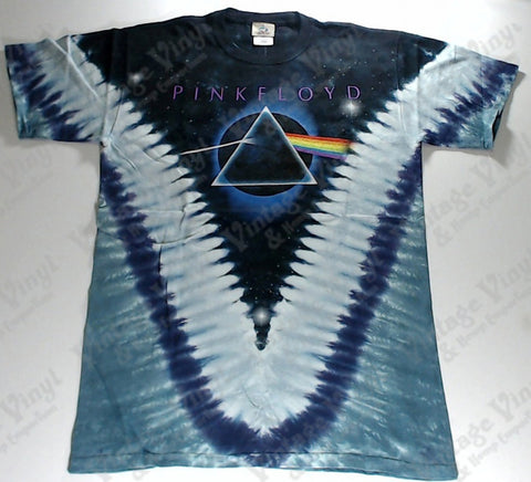Pink Floyd - Dark Side Eclipse Mirrored Pyramids V Liquid Blue Shirt