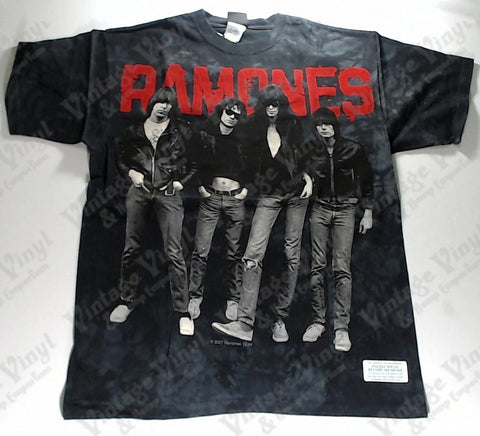 Ramones - Band Liquid Blue Shirt