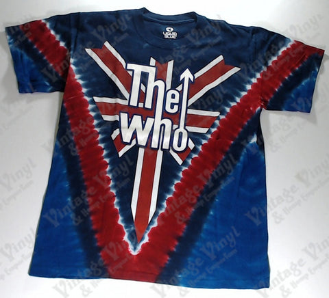 Who, The - Union Jack Long Live Rock V Liquid Blue Shirt