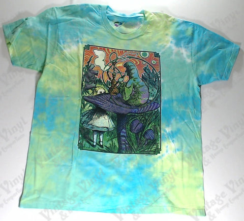 Alice In Wonderland - Green Caterpillar Hooka Novelty Liquid Blue Shirt