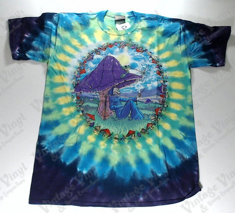 Fantasy - Mushroom Reaper Novelty Liquid Blue Shirt