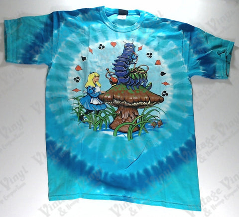 Alice In Wonderland - Caterpillar Who Are you? Novelty Liquid Blue Shirt