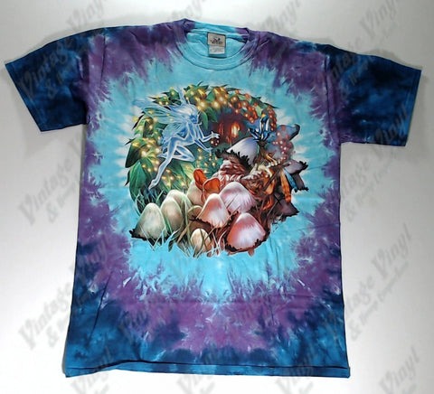 Fantasy - Fairy And Mushroom Gnome Novelty Liquid Blue Shirt