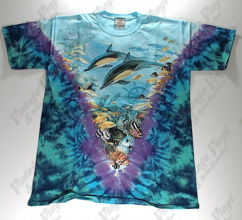 Animals - Dolphin and Fish V Novelty Liquid Blue Shirt