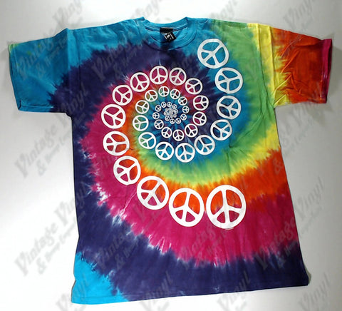 Peace - Spiralled Peace Logo Novelty Liquid Blue Shirt