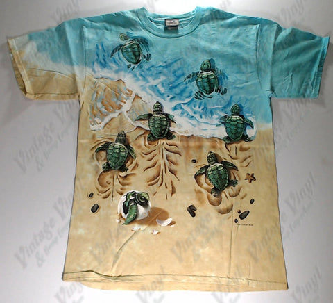 Animals - Sea Turtles Babies Novelty Liquid Blue Shirt