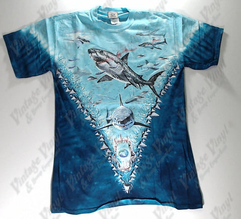 Animals - Bloody Shark Tooth V Novelty Liquid Blue Shirt