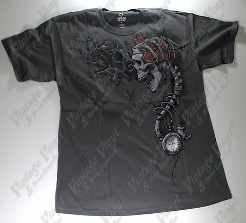 Dark Fantasy - Watch Skull Liquid Blue Shirt