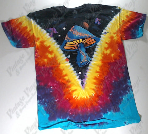 Space - Mushroom Spaceship V Liquid Blue Shirt