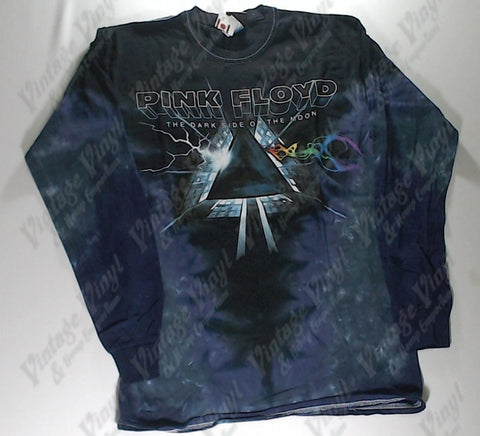 Pink Floyd - Dark Side Lightning Into Colour Waves V Long Sleeve Liquid Blue Shirt