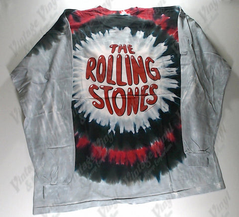 Rolling Stones, The - Red Lips Circle Long Sleeve Liquid Blue Shirt