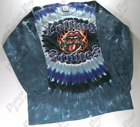 Rolling Stones, The - Tattoo You Flaming Lips Circle Long Sleeve Liquid Blue Shirt