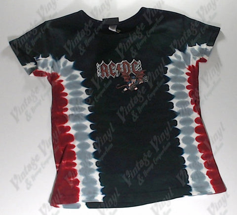 AC/DC - Angus Devil Liquid Blue Girlie Shirt