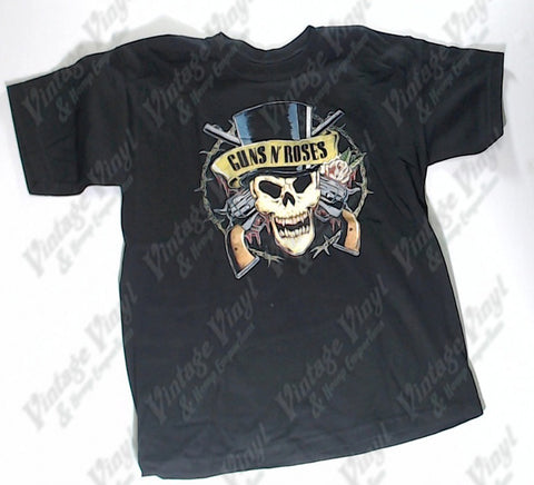 Guns N' Roses - Skull Hat Boys Youth Shirt
