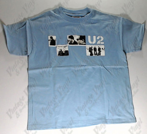 U2 - Four Panels Band Blue Boys Youth Shirt