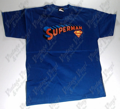 Superman - Bold Logo Blue Boys Youth Shirt