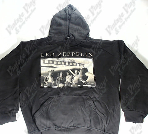 Led Zeppelin - Band In Front Of Plane Hoodie