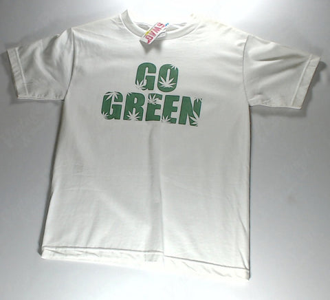 Go Green - Small Text White Shirt