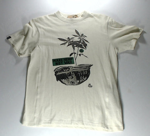 "Hoodlamb - Plant In Helmet ""Make Hemp Not War"" Tan Novelty Shirt"