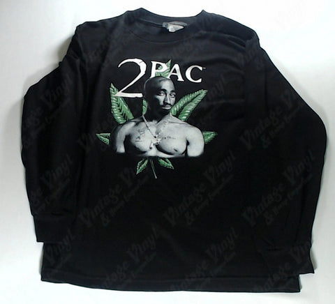 Tupac - Leaf Portrait Long Sleeve Shirt