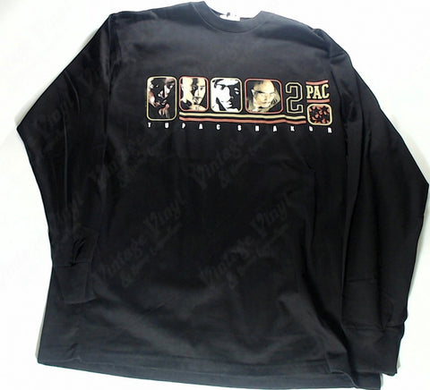 Tupac - Four Photo Panel 2Pac Long Sleeve Shirt