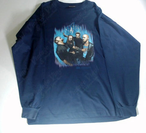 Drowning Pool - Band Navy Long Sleeve Shirt