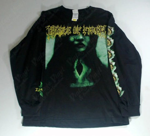 Cradle Of Filth - Green Woman Libertina Grimm Yellow Logo Long Sleeve Shirt