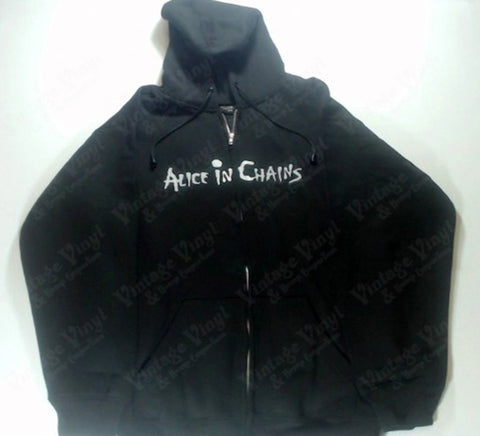 Alice In Chains - White Logo Zip-Up Hoodie