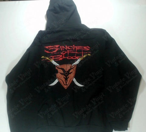 Three Inches Of Blood - Twin Demon Riders Zip-Up Hoodie