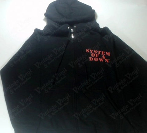 System Of A Down - Red Logo Sexy Soldier Chick Zip-Up Hoodie