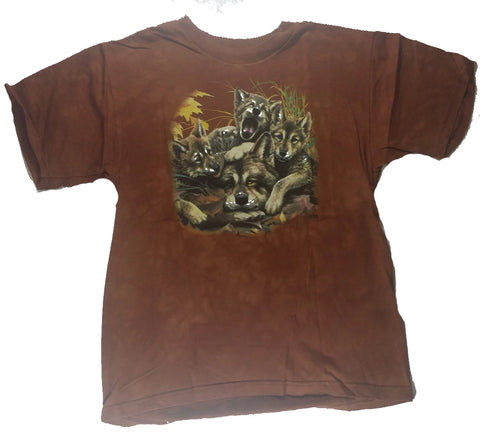 Wolves - Pups Piled On Mother Youth Mountain Shirt
