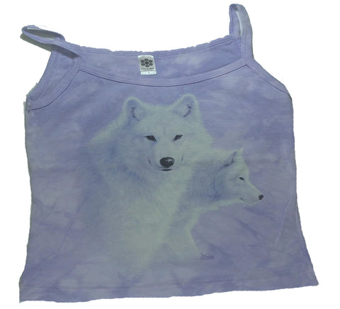 Wolves - White Wolves Womens Tank Top Mountain Shirt