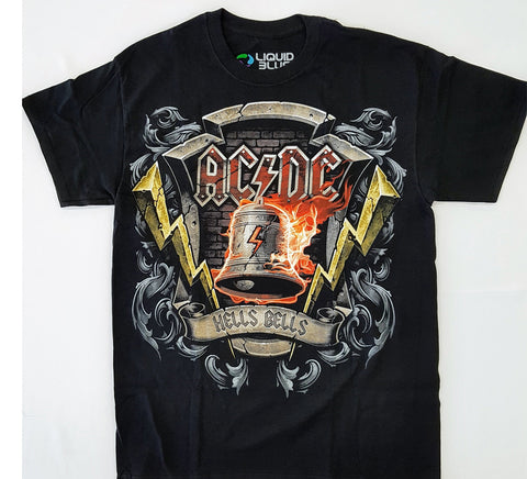 AC/DC - Hells Bells Black Liquid Blue Shirt