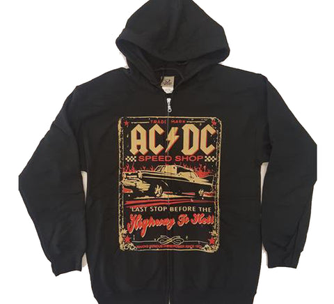 AC/DC - Speed Shop Highway To Hell Zip-Up Hoodie