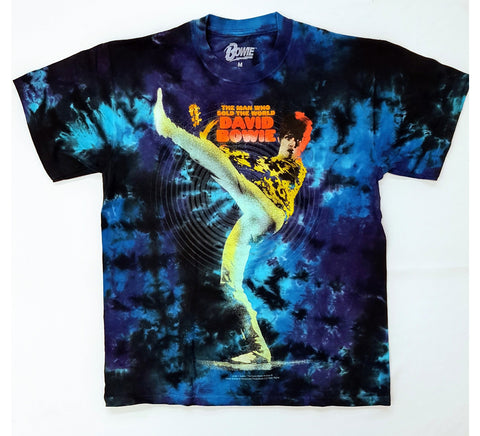 Bowie, David - Man Who Sold The World Tie Dye Liquid Blue Shirt