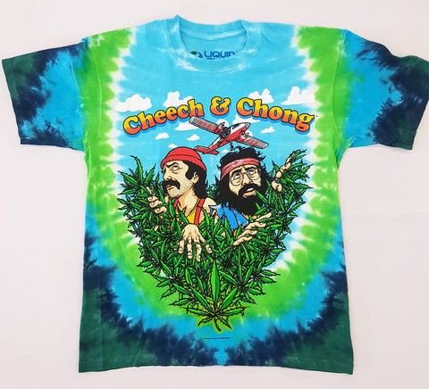 Cheech & Chong - If You Can't Beat Them Tie Dye Liquid Blue Shirt