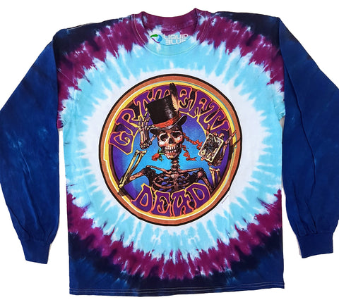Grateful Dead - Bertha Playing Cards Long Sleeve Liquid Blue Shirt