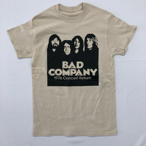 Bad Company - 1976 Concert Band Poster Tan Shirt