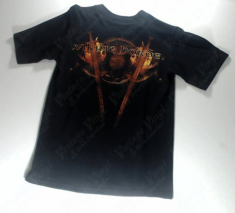 Amon Amarth - Logo on Flaming Crossed Swords Shirt